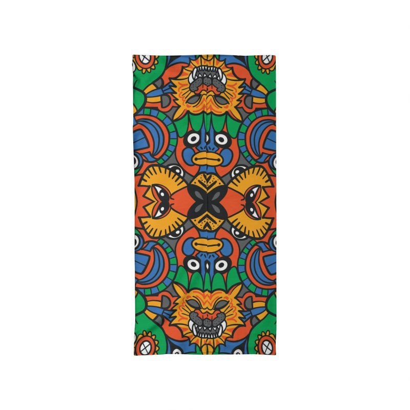 All African fantasy in a single pattern design Accessories Neck Gaiter by Zoo&co's Artist Shop