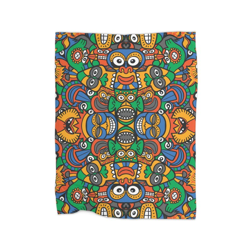 All African fantasy in a single pattern design Home Blanket by Zoo&co's Artist Shop