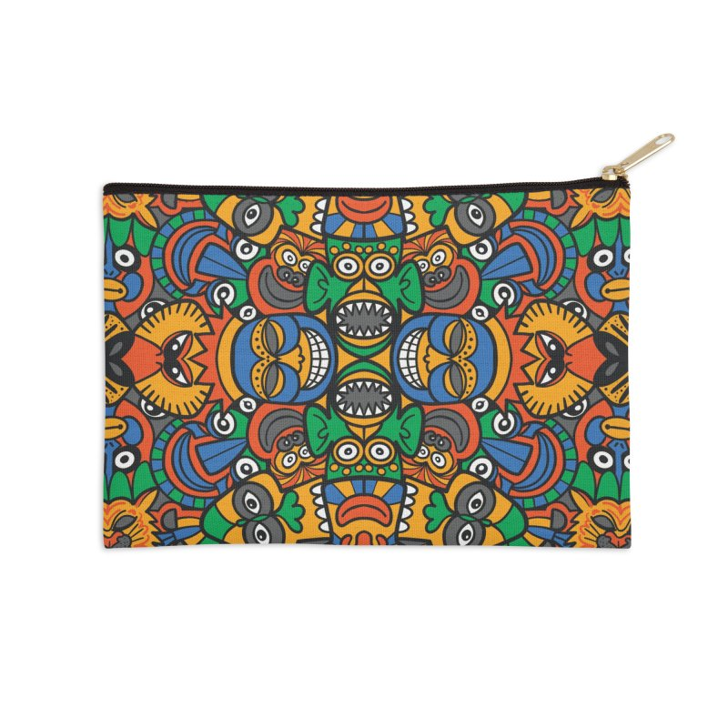 All African fantasy in a single pattern design Accessories Zip Pouch by Zoo&co's Artist Shop