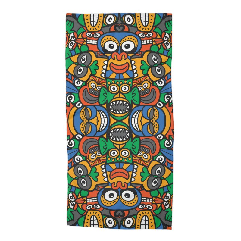 All African fantasy in a single pattern design Accessories Beach Towel by Zoo&co's Artist Shop
