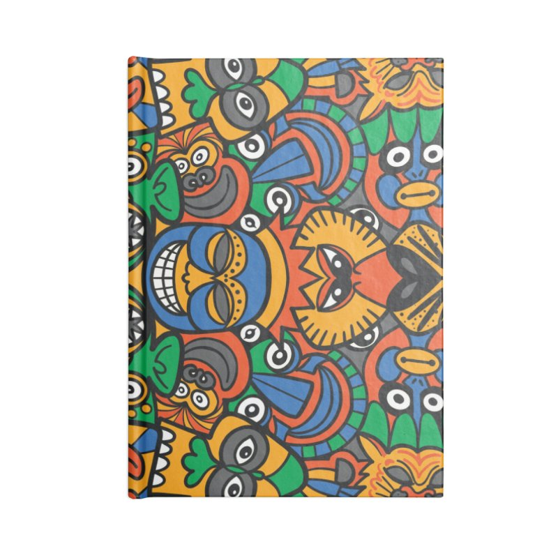All African fantasy in a single pattern design Accessories Notebook by Zoo&co's Artist Shop