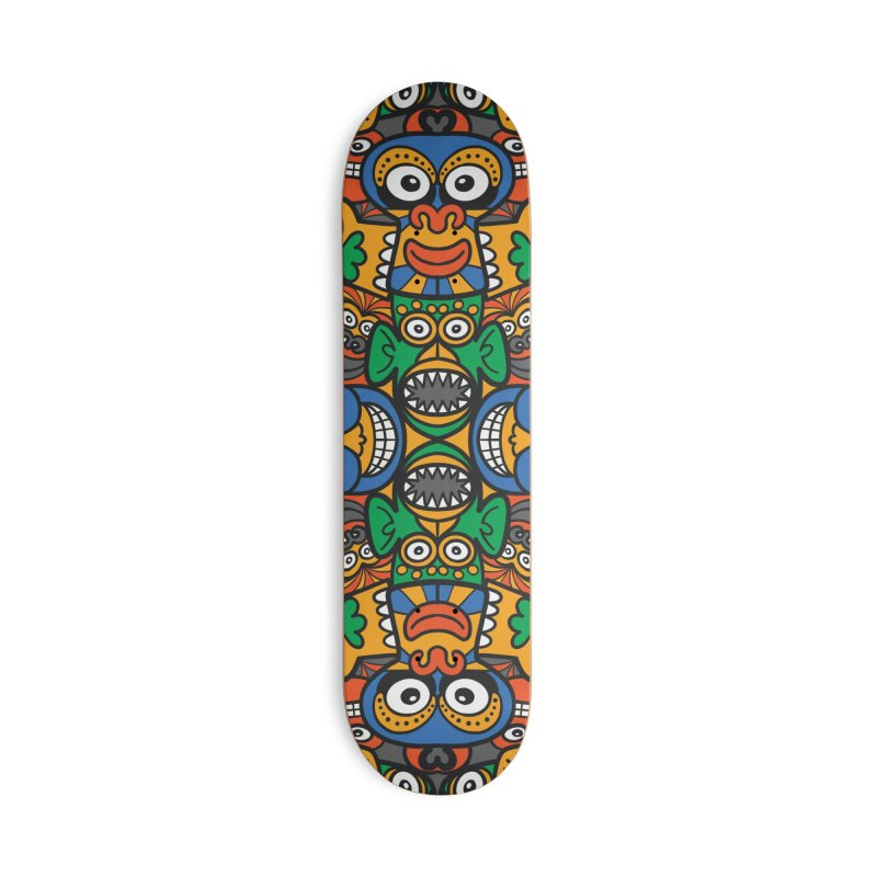 All African fantasy in a single pattern design Accessories Skateboard by Zoo&co's Artist Shop