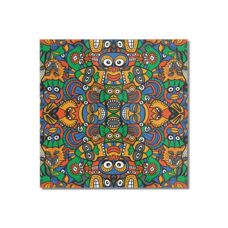 All African fantasy in a single pattern design Home Mounted Acrylic Print by Zoo&co's Artist Shop