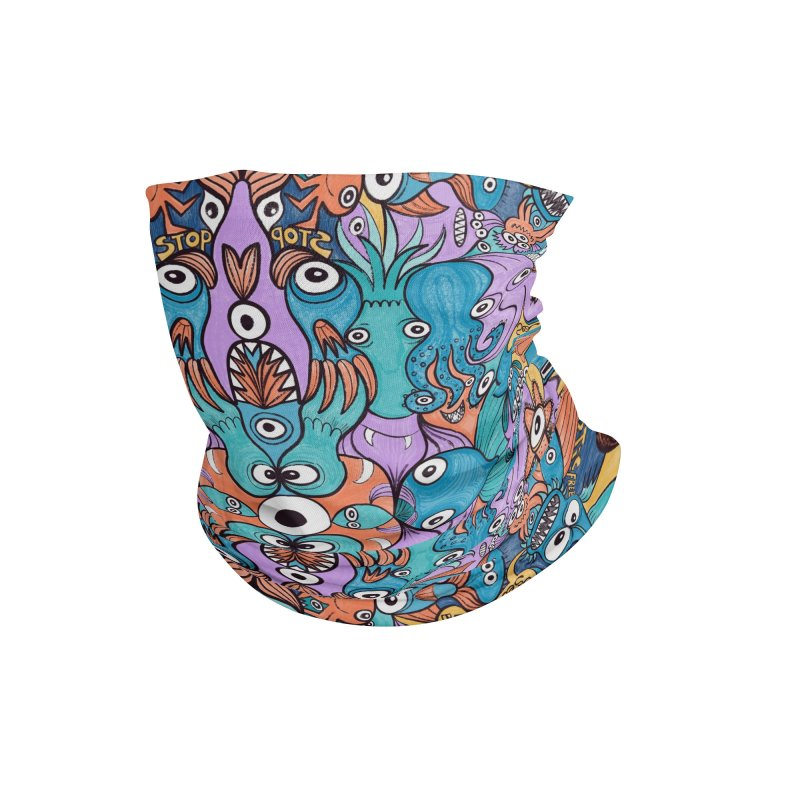 Let's move, it's time to save our oceans Accessories Neck Gaiter by Zoo&co's Artist Shop