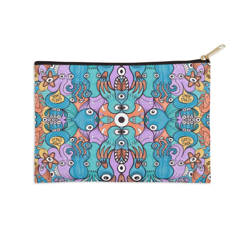 Let's move, it's time to save our oceans Accessories Zip Pouch by Zoo&co's Artist Shop