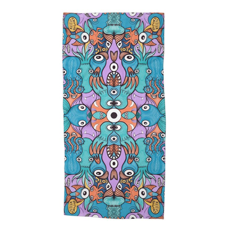 Let's move, it's time to save our oceans Accessories Beach Towel by Zoo&co's Artist Shop