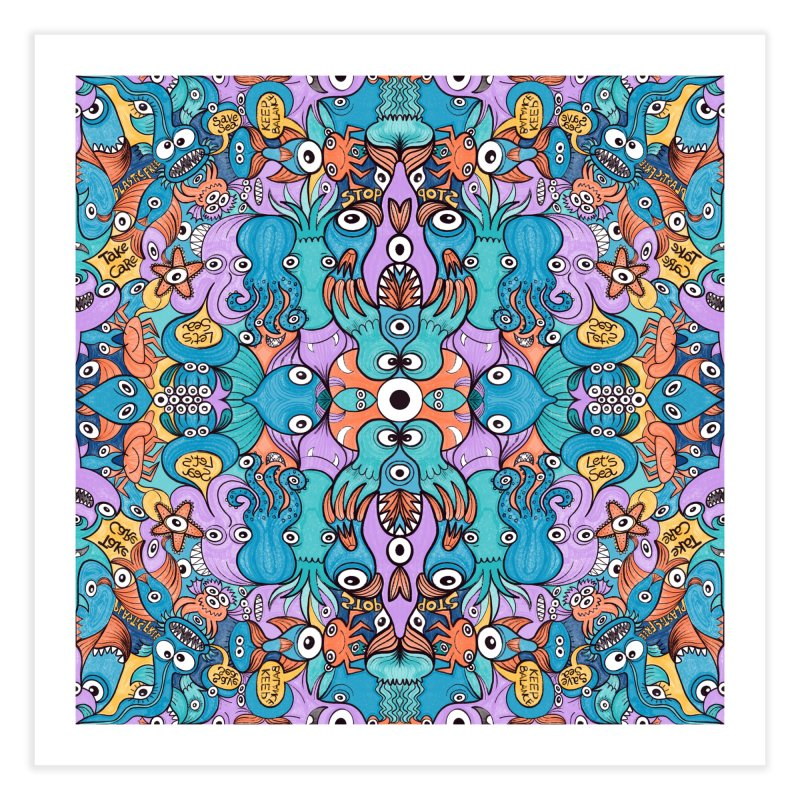 Let's move, it's time to save our oceans Home Fine Art Print by Zoo&co's Artist Shop