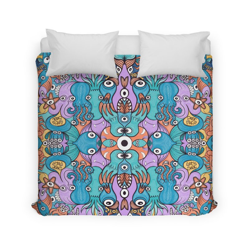 Let's move, it's time to save our oceans Home Duvet by Zoo&co's Artist Shop
