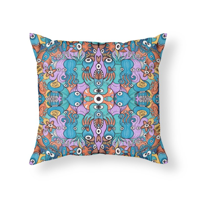 Let's move, it's time to save our oceans Home Throw Pillow by Zoo&co's Artist Shop