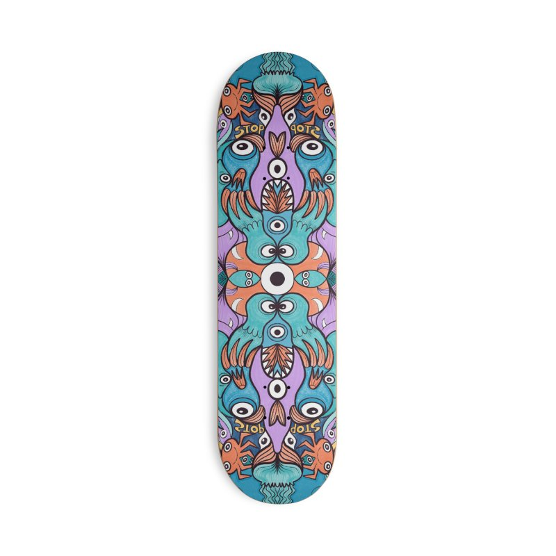 Let's move, it's time to save our oceans Accessories Skateboard by Zoo&co's Artist Shop