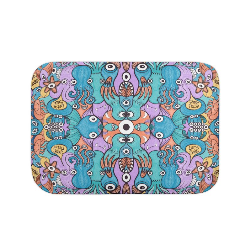 Let's move, it's time to save our oceans Home Bath Mat by Zoo&co's Artist Shop