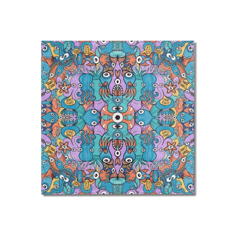 Let's move, it's time to save our oceans Home Mounted Acrylic Print by Zoo&co's Artist Shop