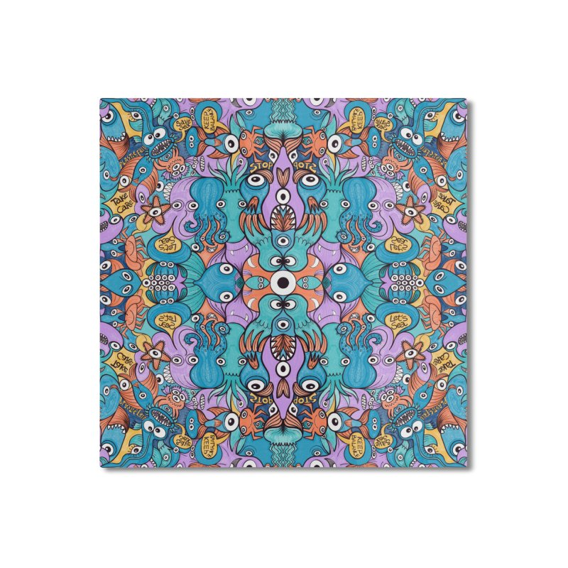 Let's move, it's time to save our oceans Home Mounted Aluminum Print by Zoo&co's Artist Shop
