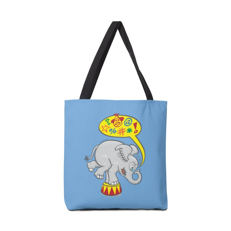 Circus elephant saying bad words Accessories Bag by Zoo&co's Artist Shop