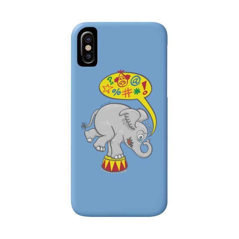 Circus elephant saying bad words Accessories Phone Case by Zoo&co's Artist Shop