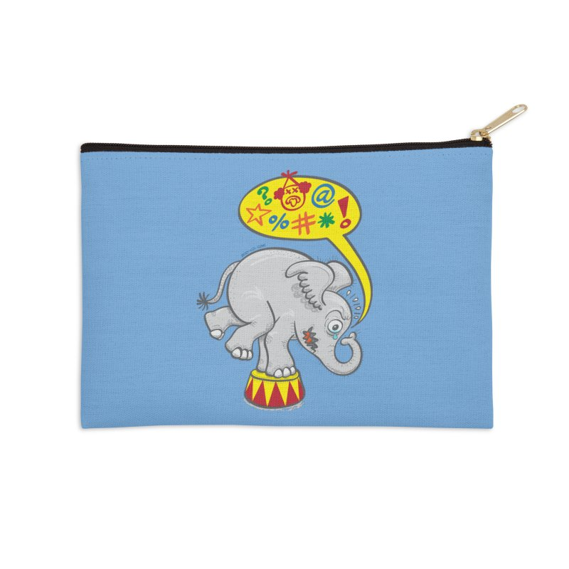 Circus elephant saying bad words Accessories Zip Pouch by Zoo&co's Artist Shop