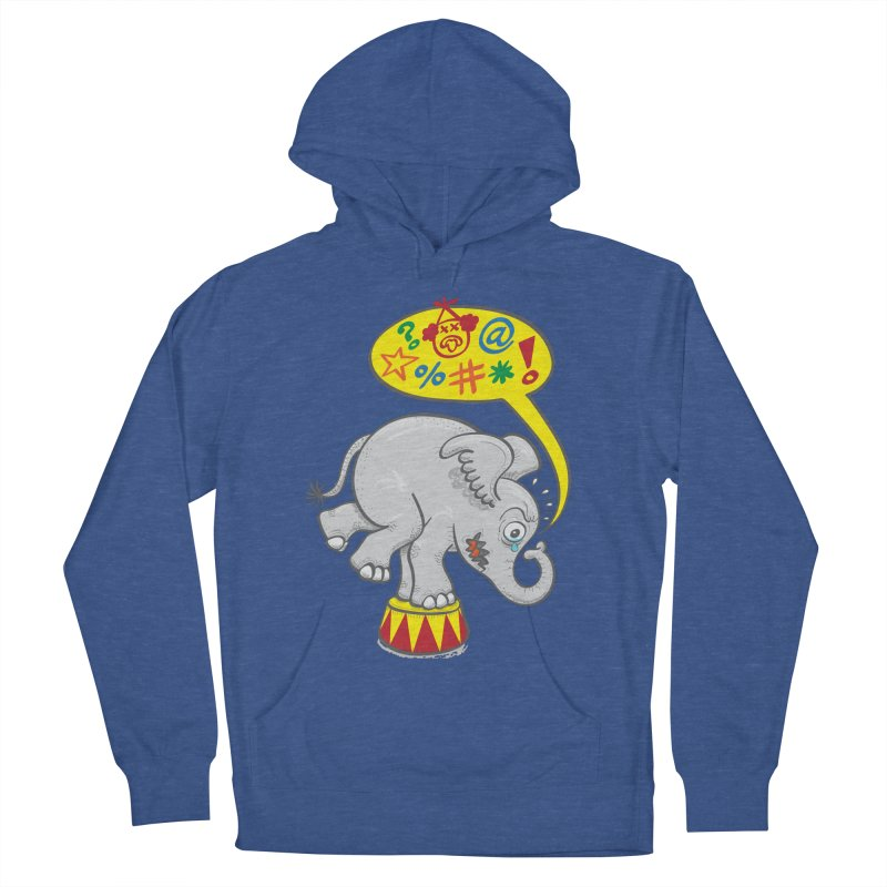 Circus elephant saying bad words Men's Pullover Hoody by Zoo&co's Artist Shop