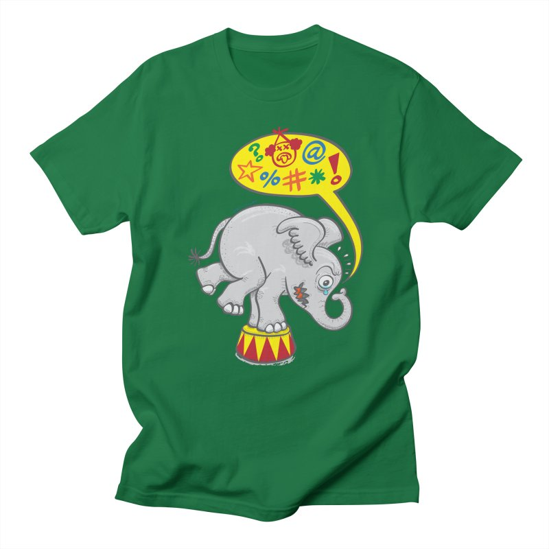 Circus elephant saying bad words Men's T-Shirt by Zoo&co's Artist Shop