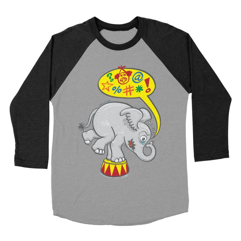 Circus elephant saying bad words Women's Baseball Triblend T-Shirt by Zoo&co's Artist Shop