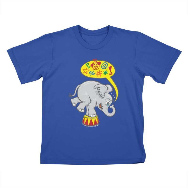 Circus elephant saying bad words Kids T-shirt by Zoo&co's Artist Shop