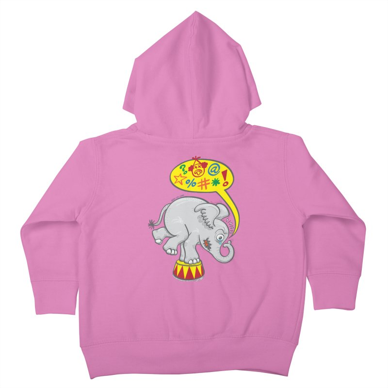 Circus elephant saying bad words Kids Toddler Zip-Up Hoody by Zoo&co's Artist Shop