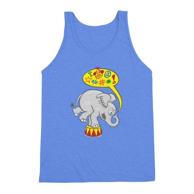 Circus elephant saying bad words Men's Triblend Tank by Zoo&co's Artist Shop