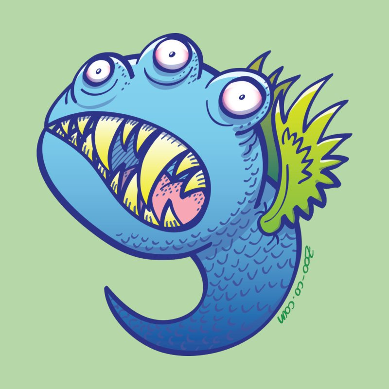 Terrific little winged blue monster by Zoo&co's Artist Shop