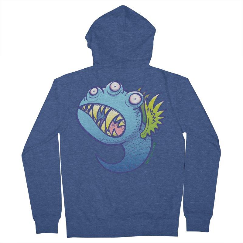 Terrific little winged blue monster Men's Zip-Up Hoody by Zoo&co's Artist Shop