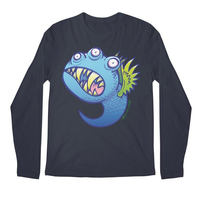 Terrific little winged blue monster Men's Longsleeve T-Shirt by Zoo&co's Artist Shop