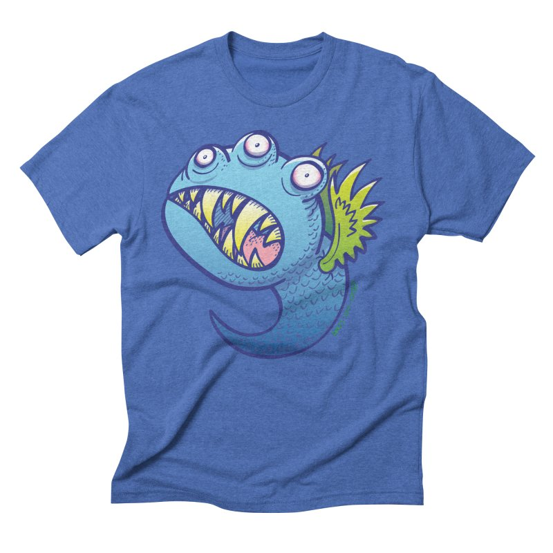 Terrific little winged blue monster Men's Triblend T-shirt by Zoo&co's Artist Shop