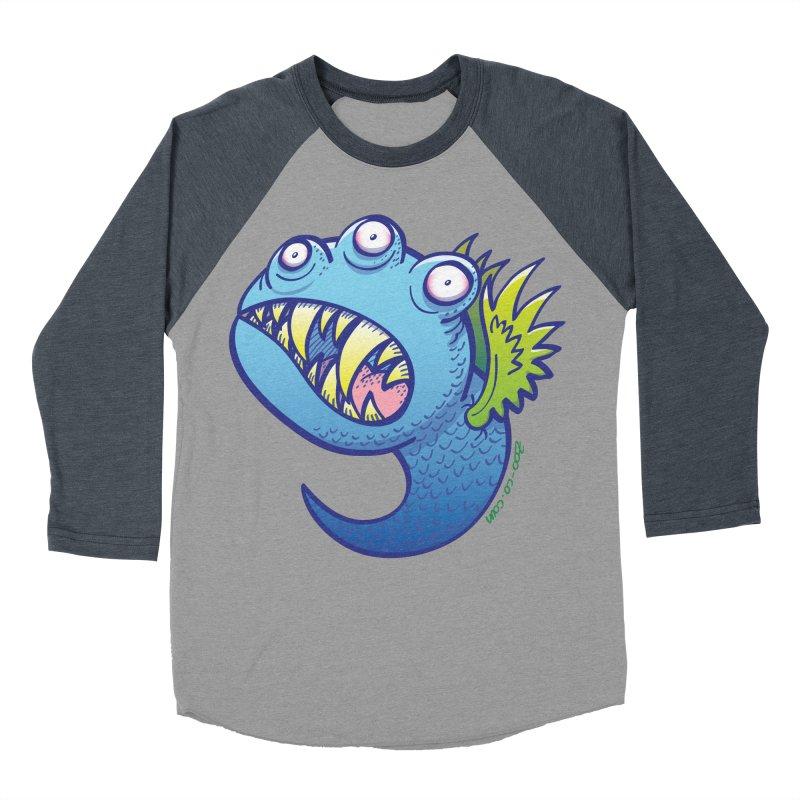 Terrific little winged blue monster Men's Baseball Triblend T-Shirt by Zoo&co's Artist Shop