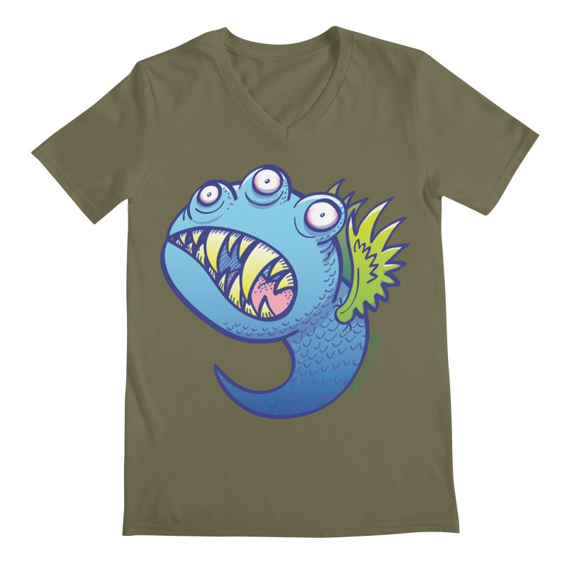Terrific little winged blue monster Men's V-Neck by Zoo&co's Artist Shop