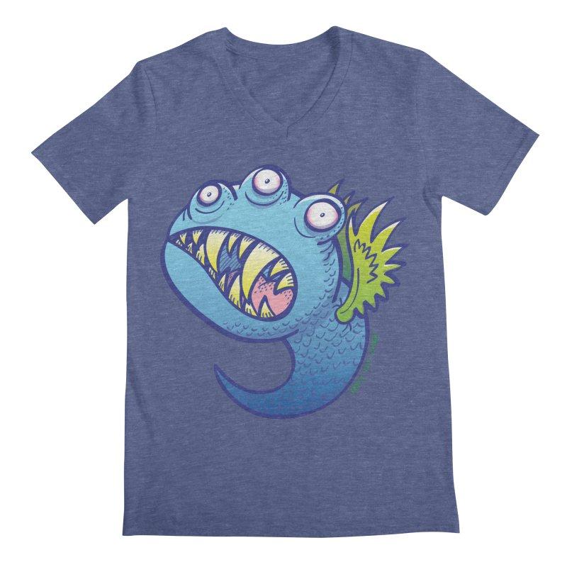 Terrific little winged blue monster Men's V-Neck by Zoo&co's Artist Shop