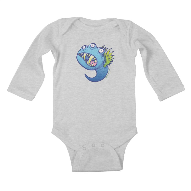 Terrific little winged blue monster Kids Baby Longsleeve Bodysuit by Zoo&co's Artist Shop