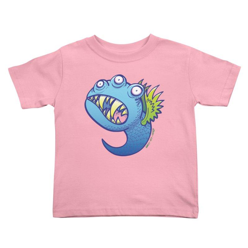 Terrific little winged blue monster Kids Toddler T-Shirt by Zoo&co's Artist Shop