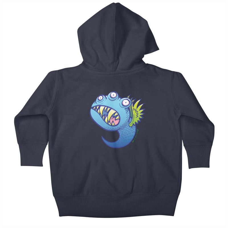 Terrific little winged blue monster Kids Baby Zip-Up Hoody by Zoo&co's Artist Shop