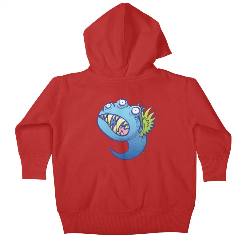 Terrific little winged blue monster Kids Baby Zip-Up Hoody by Zoo&co's Artist Shop