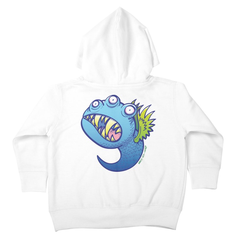 Terrific little winged blue monster Kids Toddler Zip-Up Hoody by Zoo&co's Artist Shop
