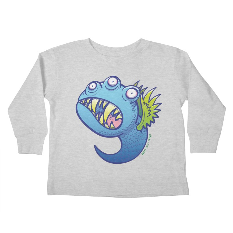 Terrific little winged blue monster Kids Toddler Longsleeve T-Shirt by Zoo&co's Artist Shop
