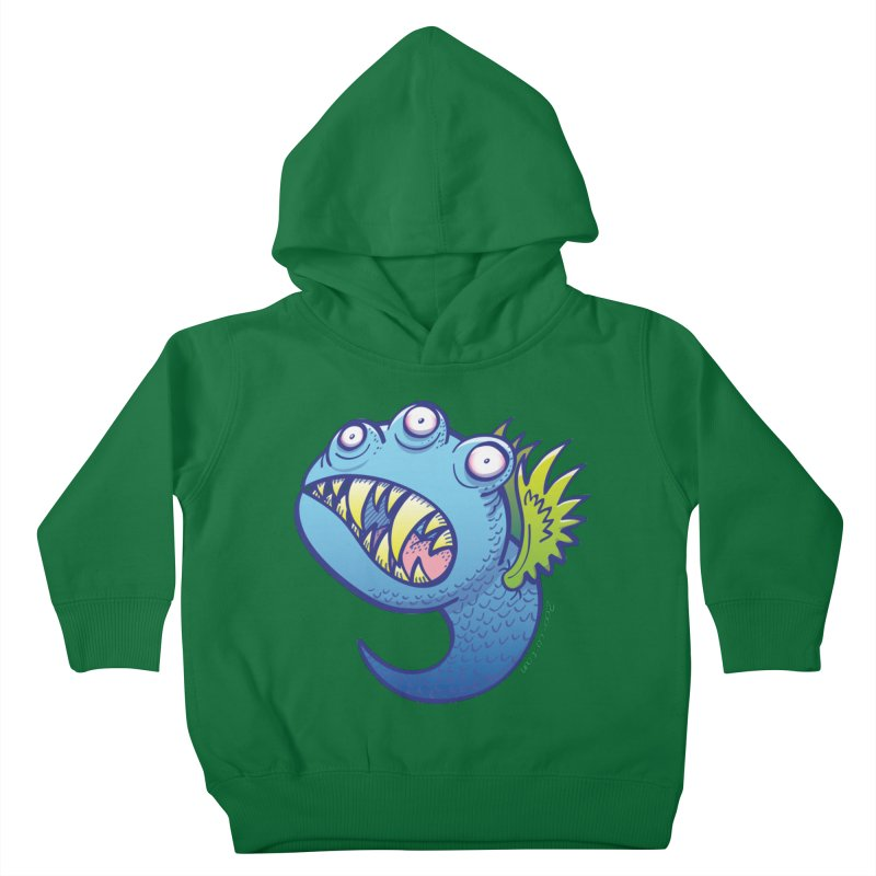Terrific little winged blue monster Kids Toddler Pullover Hoody by Zoo&co's Artist Shop