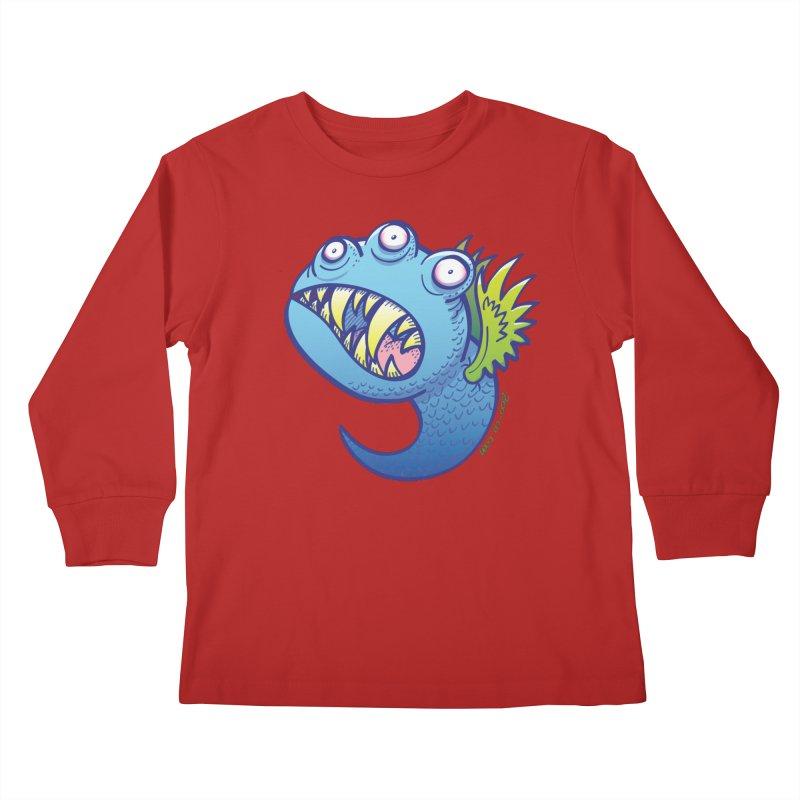 Terrific little winged blue monster Kids Longsleeve T-Shirt by Zoo&co's Artist Shop