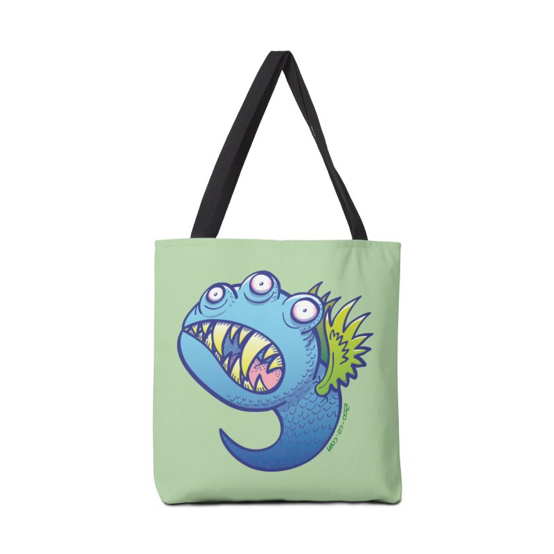Terrific little winged blue monster Accessories Bag by Zoo&co's Artist Shop