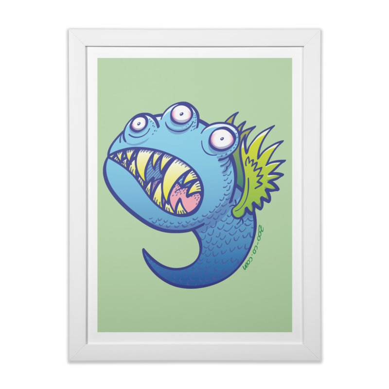 Terrific little winged blue monster Home Framed Fine Art Print by Zoo&co's Artist Shop