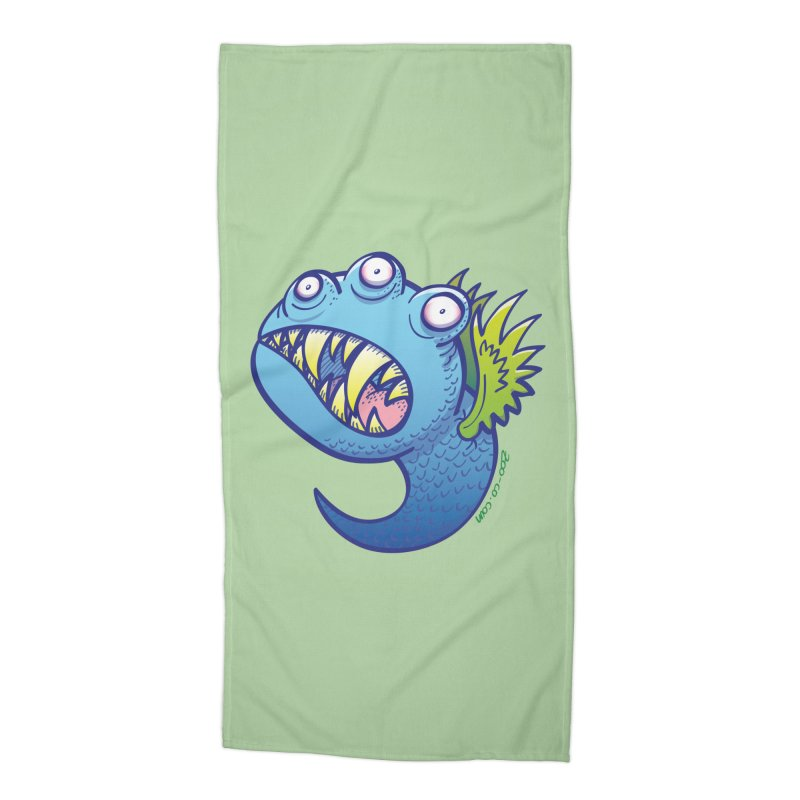 Terrific little winged blue monster Accessories Beach Towel by Zoo&co's Artist Shop