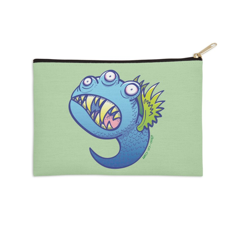 Terrific little winged blue monster Accessories Zip Pouch by Zoo&co's Artist Shop