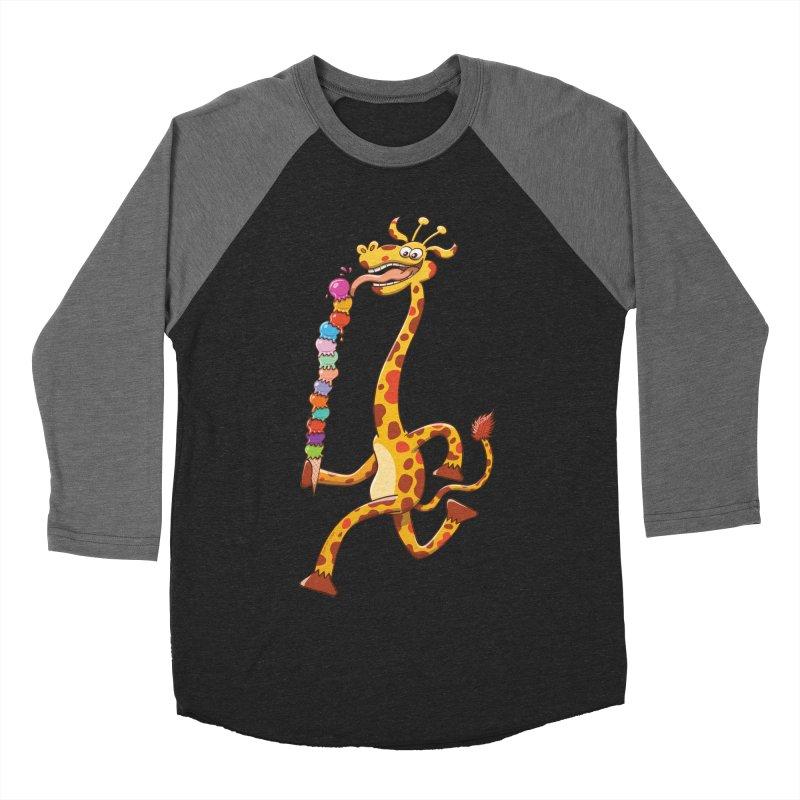 Long-necked giraffe eating ice cream   by Zoo&co's Artist Shop