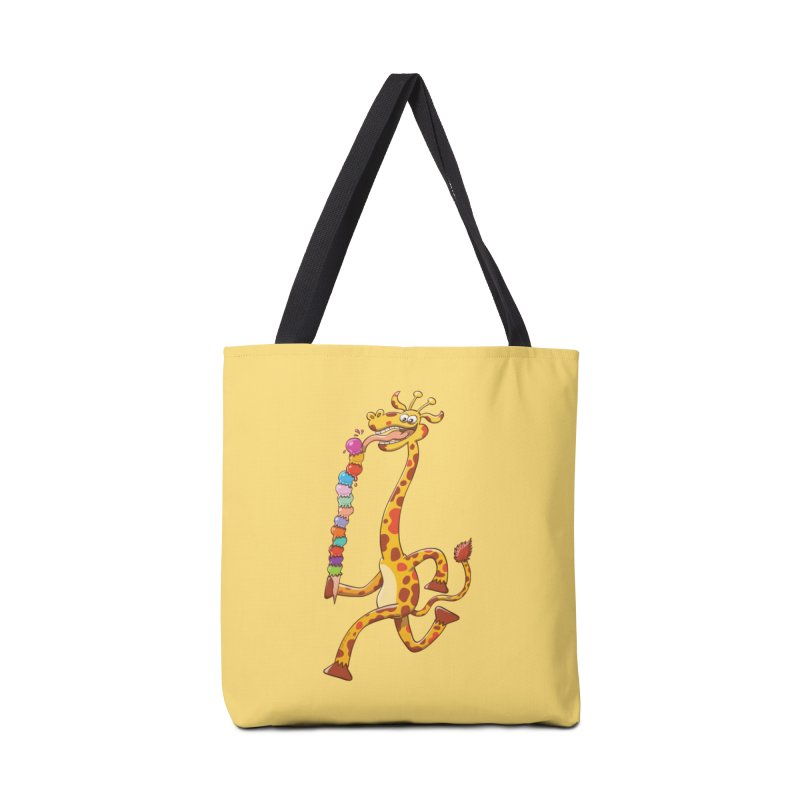 Long-necked giraffe eating ice cream Accessories Bag by Zoo&co's Artist Shop