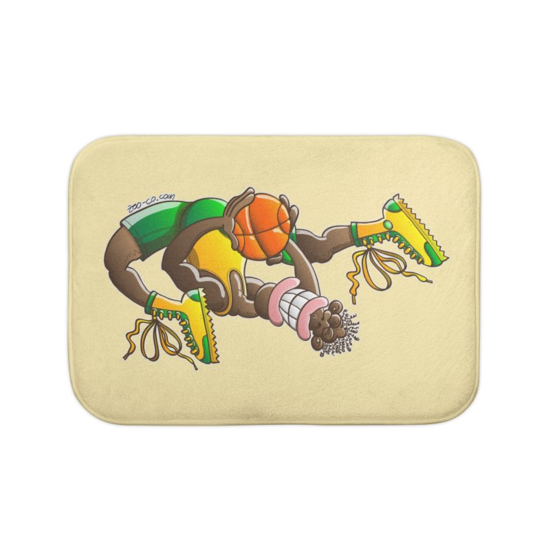 Amazing basketball Home Bath Mat by Zoo&co's Artist Shop