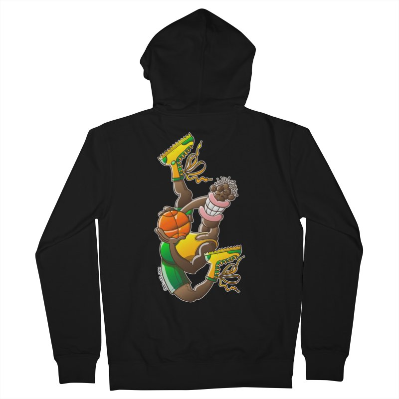Amazing basketball Women's Zip-Up Hoody by Zoo&co's Artist Shop