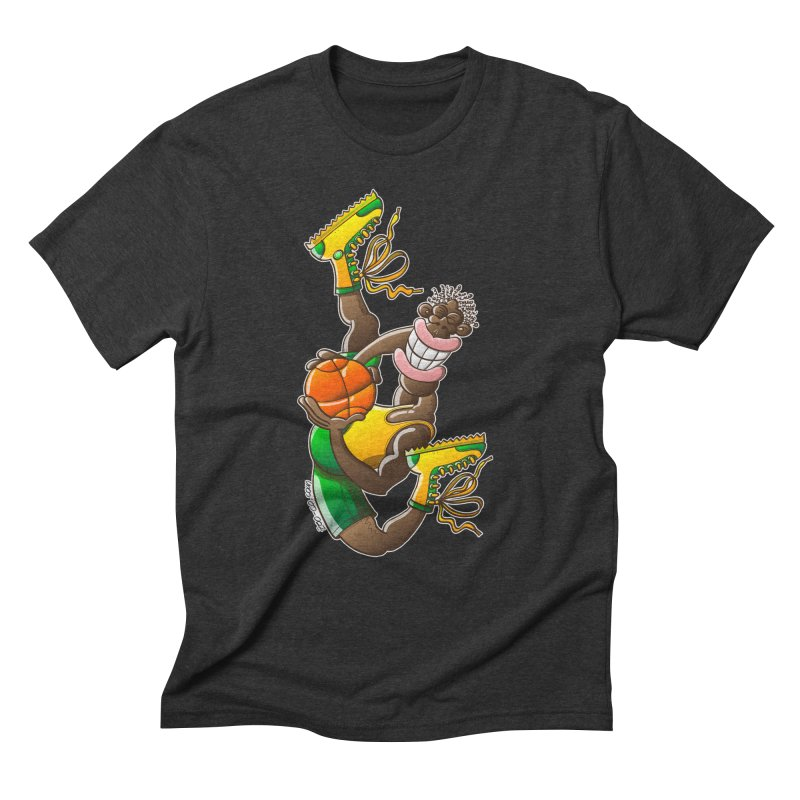 Amazing basketball Men's Triblend T-shirt by Zoo&co's Artist Shop
